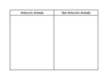 Antarctica Animal Sort - Kindergarten Reading Street Unit
