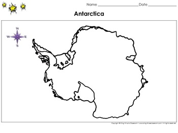 Antarctica Map - Blank - Full Page - Continent - King Virt