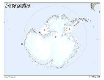 Antarctica Map by Pin It! Maps