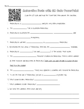 Antarctica PPT and Questions with QR Code