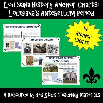 Louisiana History: Antebellum Era Anchor Charts