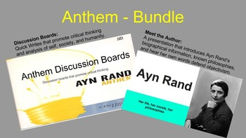 Anthem Bundle: Introducing the Author and Discussion Board