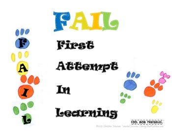 First Attempt in Learning: FAIL Printable Poster