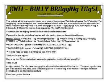 Anti- Bullying Bragging Tags!