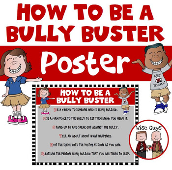 Anti Bullying Mini Lesson and Poster How to Be a Bully Buster