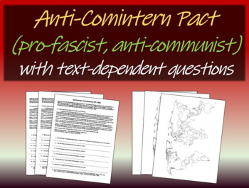 Anti-Comintern (anti-communist) Pact) - text, background,
