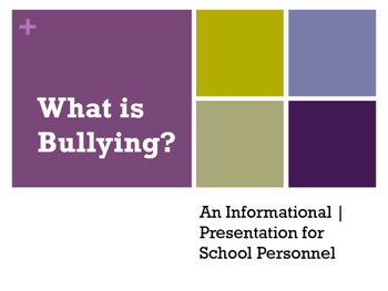 Anti bullying Powerpoint presentation