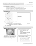 Antibacterial Agents and Resistance PPT - Student Worksheet