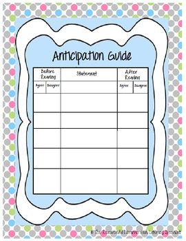 Free Anticipation Guide Boost Comprehension