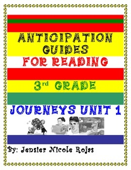 Anticipation Guides Journeys Unit-1 3rd Grade Reading Comp