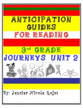 Anticipation Guides Journeys Unit-2 3rd Grade Reading Comp