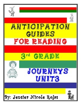 Anticipation Guides Journeys Unit-3   3rd Grade   Reading
