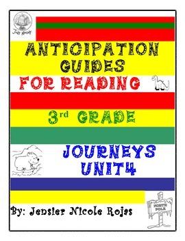 Anticipation Guides Journeys Unit-4    3rd Grade Reading C