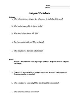 Antigone Worksheets