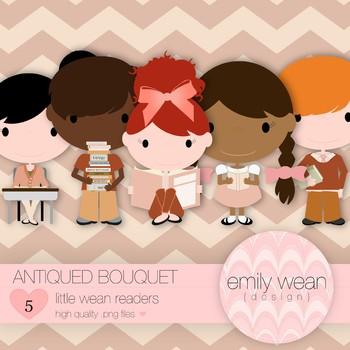 Antiqued Bouquet - Little Readers Clip Art