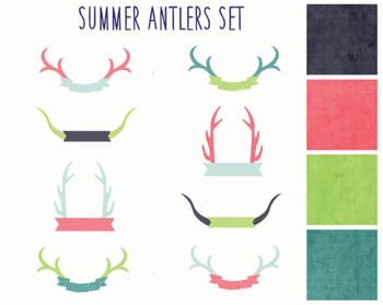 Antler Clipart Set #041