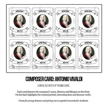 Antonio Vivaldi Composer Trading Card