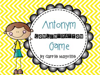 Antonym Concentration Game