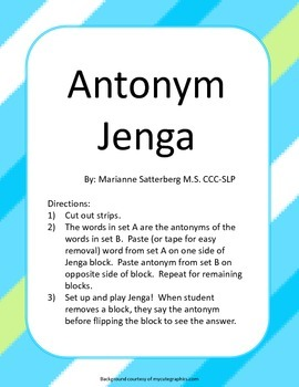 Antonym Jenga