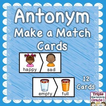 Antonym Make A Match Cards