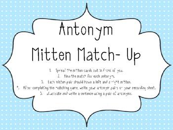 Antonym Mitten Match