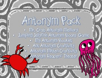 Antonym Pack: Centers, Booklet, Craftivities/Glyphs, and R