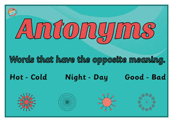 Antonym Poster for Display
