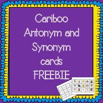 Antonym and Synonym Cariboo Cards