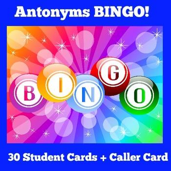 Antonyms Activity | Antonyms Game | Antonyms BINGO