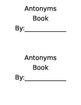 Antonyms Book