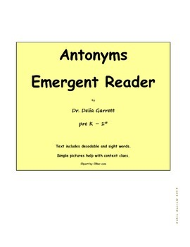 Antonyms Emergent Reader