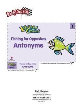 Antonyms--Fishing for Opposites Literacy Center (eLesson)