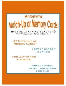 Antonyms Pairing Game!