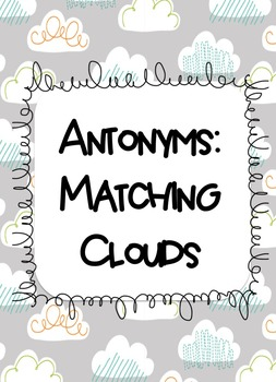 Antonyms: Matching Clouds