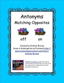 Antonyms Matching Opposites