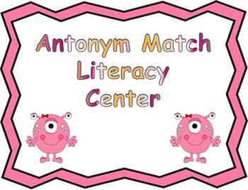 Antonyms Sort Literacy Center