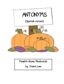 Antonyms - Spanish flashcards - Antonimos