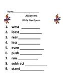 Antonyms Write the Room