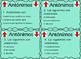 Antonyms task cards Antonimos Task Cards