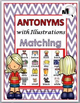 Antonyms Matching, Worksheets, & Poster - Set 1 - Opposites Match