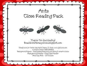 Ants - Close Reading Pack