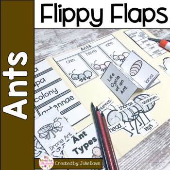 Ants Flippy Flaps Interactive Notebook Lapbook