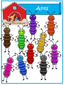 Ants *Penny & Ellie's Doghouse Clipart*