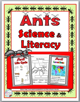 Ants Life Cycle Science and Literacy  - Ant Unit - Ant Science