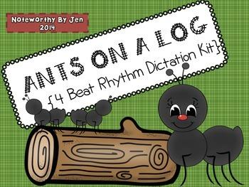 4 Beat Rhythm Dictation Kit {Ants on a Log}