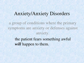 Anxiety Disorders PPT