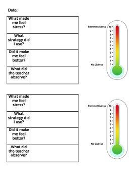 Anxiety Tracker Sheet
