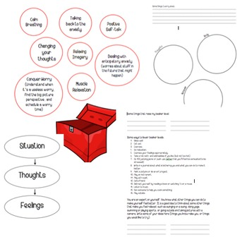 Anxiety Worksheets for Anxiety Free Kids (stress, worry, o