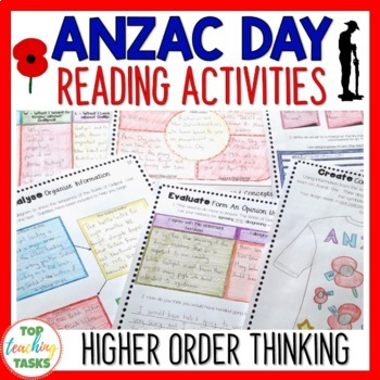 Anzac Day Close Reading Comprehension Texts - Higher Order