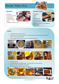 Anzac Slice Recipe with visual photo sequence